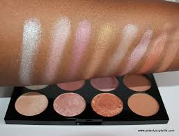 contour make up revolution golden sugar palette swatches on dark skin makeup revolution ultra blush