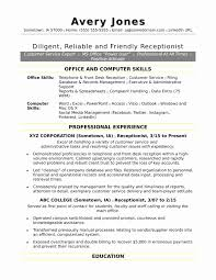 Front Desk Resume Skills Unique Receptionist Resume For Fresher