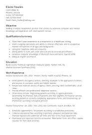 Resume Samples Receptionist Impressive Hospital Receptionist Resume Sample Skills Front Desk Summary For