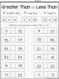 Collections of Greater Than Less Than Free Worksheets, - Easy ...