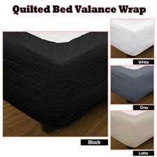 quilted bed valance bed skirt wrap