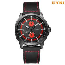 online get cheap accurate watches men aliexpress com alibaba group 2016 new eyki watches for men big dial clear scale accurate travel time quartz watch pu leather men s wrist watch luminous hands