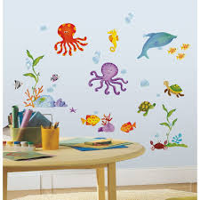 Bathroom Fish Decor Ideas Wall And Window Decals Wall Decorations