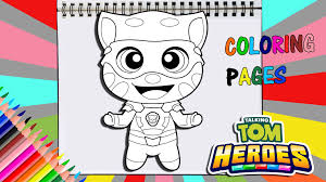Coloring book circus and drawing for children and toddlers. Talking Tom Heroes Coloring Page Youtube Link In My Bio Artwork