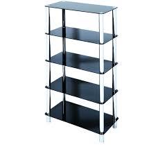 amazing black shelving unit atripaldi 5 tier glass ikea living room argo with door uk basket drawer