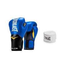everlast elite pro style leather training boxing gloves sparring hand wraps 0
