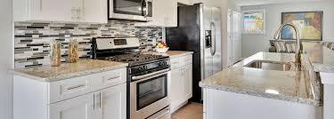 ice white shaker full kitchen