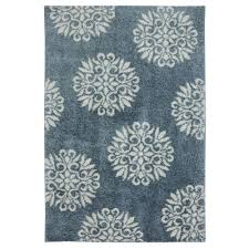 mohawk home exploded medallions blue woven 3 ft x 6 ft area rug