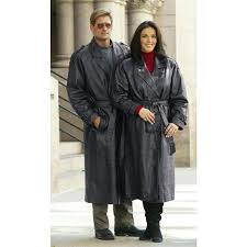 guide gear leather trench coats