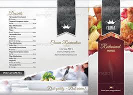 Restaurant Menu Layout Ideas Restaurant Menu Templates Graphic Designs