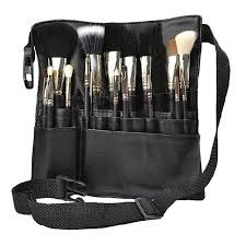 black professional cosmetic makeup brush a bag artist belt strap holder protable make up bag women cosmetic brush bags rd602229 beauty s