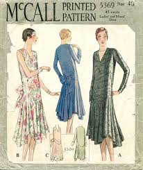 1920s Dress Patterns Simple 48s Patterns Vintage Reproduction Sewing Patterns