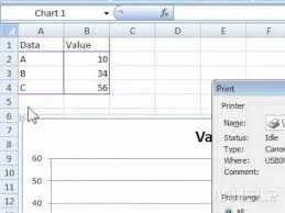 Print A Graph How To Print A Chart In Excel Youtube