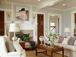 cottage paint colorsLight Blue Wall Paint  Cottage  living room  Benjamin Moore