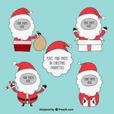 Christmas Photo Frames Templates Free Santa Claus Frames Template Vector Free Download