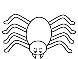 Small Picture Spider Coloring Page Halloween