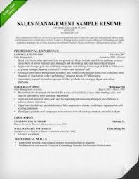 sales manager resume sample sales manager resume sales manager cover letter sample example of resume and cover letter