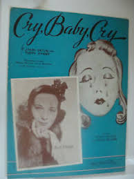 Cry Baby Cry 1938 Jimmy Eaton Terry Shand Doris Rhodes Immerman cover art |  eBay
