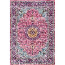 verona pink 2 ft 8 in x 8 ft runner rug