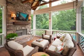 furniture for screened porch. screened porch with chippendale railings and fireplace furniture for t