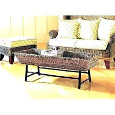 wicker basket coffee table coffee table with baskets coffee table with baskets underneath coffee table with