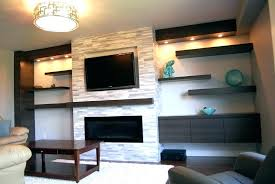 corner fireplace with tv above over fireplace ideas design on