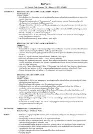 Regional Security Manager Resume Samples | Velvet Jobs