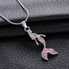 whole top grade diamond pendant necklace little mermaid pendant necklace for wedding party women jewelry pendants and necklaces gold chains for men from
