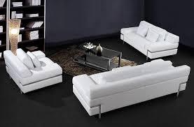 modern white leather sofa. Brilliant Sofa Clif Sofa Set Intended Modern White Leather Sofa