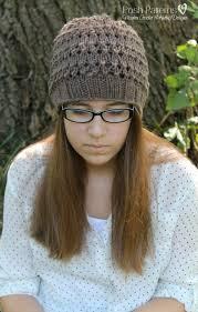 Knit Hat Patterns New Free Knitting Pattern Eyelet Lace Hat
