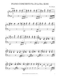 Mozart - Piano Concerto No.20,K.466 1st Mvt. Sheet music for Piano (Solo)