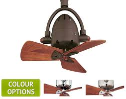 atlas diane ceiling fan with solid wood blades small oscillating