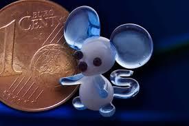 Glasfigur Glasmaus Mini Maus Aus Glas Hellblau Exklusiv Nur In Diesem Onlineshop Erhältlich