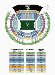 Oakland Raiders Seating Chart 38 Studious Raiders Tickets
