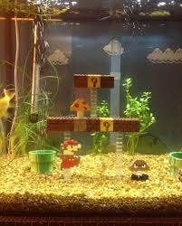 aquarium diy decor super mario bros aquarium diy project is one youll definitely on fish