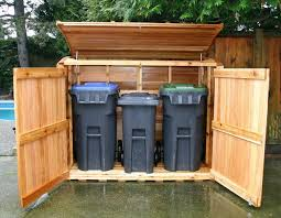 Image Rubbermaid Modern Outdoor With Trash Can Shed Kit Ideas Oscar Large Wooden Regard To Refuse Storage Decorations Pinterest Modern Outdoor With Trash Can Shed Kit Ideas Oscar Large Wooden