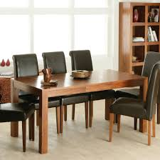 dining table with leather chairs regarding room mesmerizing and 7 idea 6