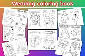 kids wedding coloring pages kids wedding activity book personalized pdf