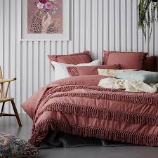 details about home republic taho dusty rose single bed quilt doona duvet cover set new adairs