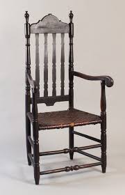 a very fine william and mary banister backed armchair