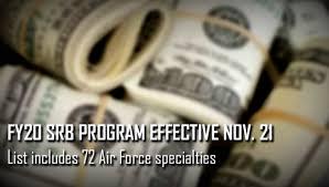 2020 Air Force Pay Chart Af Releases Fy20 Selective Retention Bonus Program U S