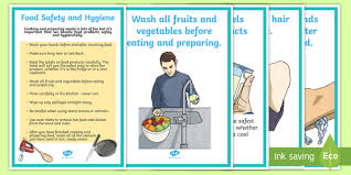 Food Hygiene Poster New Food Safety And Hygiene Display Posters Australia Yr 3 And 4