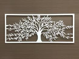 white framed tree of life metal wall