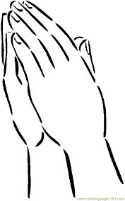 Small Picture Praying Hands Coloring Pages