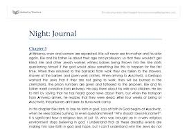 night by elie wiesel chapters and gcse history marked  document image preview