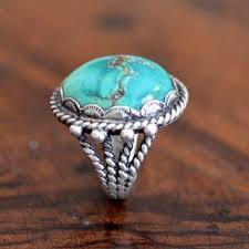 navajo fox turquoise ring