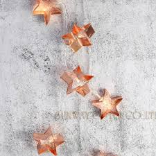 Copper Star Fairy Lights Us 9 9 Battery Powered 20copper Star Cookie Cutter String Lights Led Fairy Lights Decoration Light For Festival Christmas Party Wedding In Led