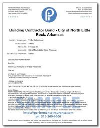 We service the north little rock area and throughout the state of arkansas. Building Contractor Bond City Of North Little Rock Arkansas