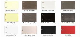 Ives Hardware Finish Chart Different Hardware Finishes Metal Chart Us10b Finish Schlage