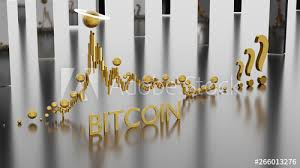 Epic Stock Chart Of Bitcoin Cryptocurrency With Increase And